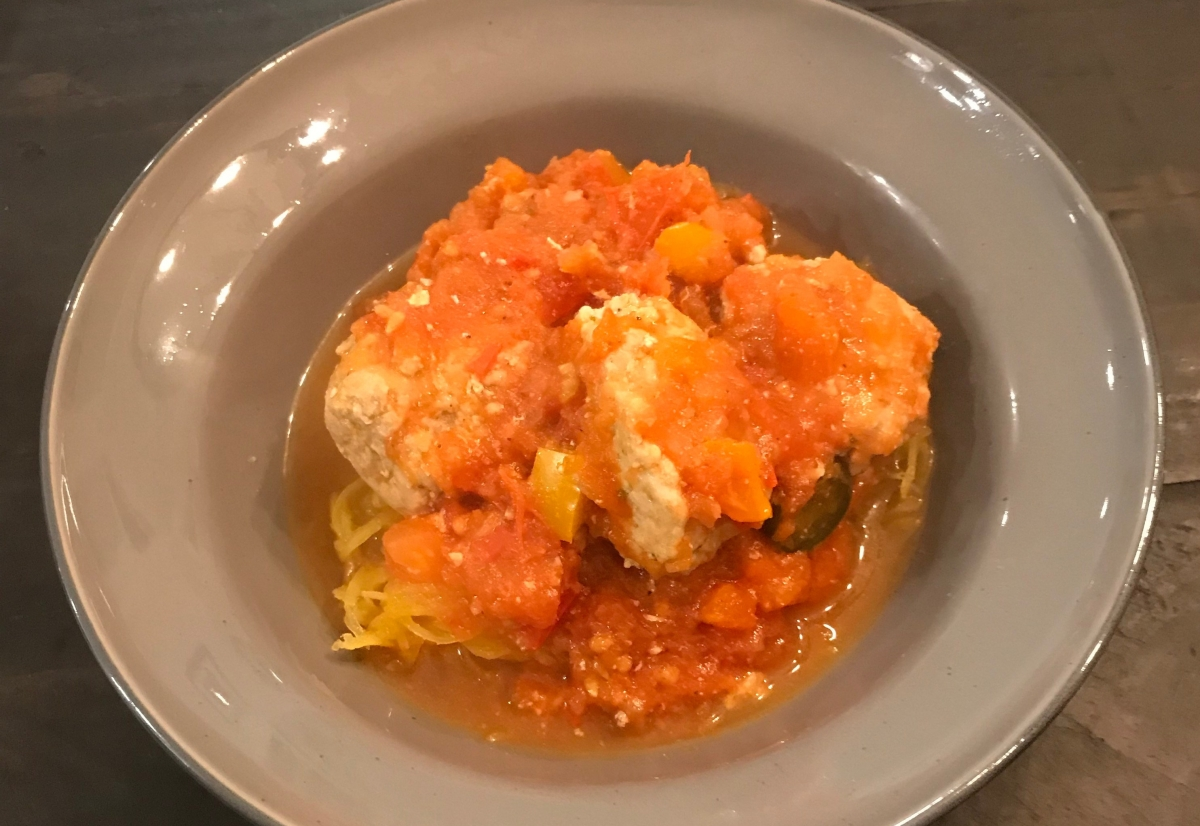 Turkey Meatballs with SpaghettiSquash